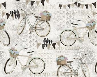 END of BOLT French Flea Market by Four Seasons Fabric 3987-5C-1 Cream