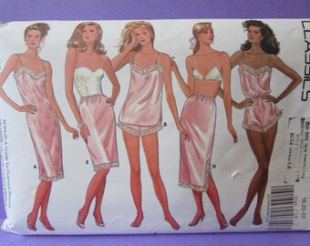 Linger Sewing Pattern, Camisole, Teddy, Panties, Half and Full Slip, Butterick No. 5740, Size 18, 20, 22, UNCUT FF, (P051)