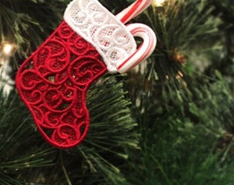 Embroidered Christmas Tree Decorations - Christmas Stocking's