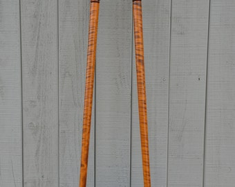 Tiger maple cane and Town and Country pair