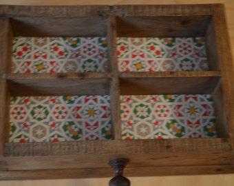 Restored and recycled compartmentalized wooden tray