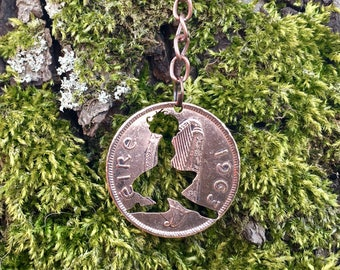 Irish Dancer, Irish Dancing Cut Coin Pendant or Keychain