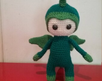 Handmade crochet dinosaur doll