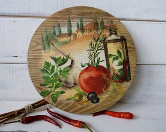 Housewarming gift Women gift Cutting cheese board Wooden plate Wood cutting board  Provence board Restaurant décor Café decor Hostess gift