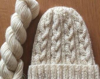 Aran Hat knitting kit