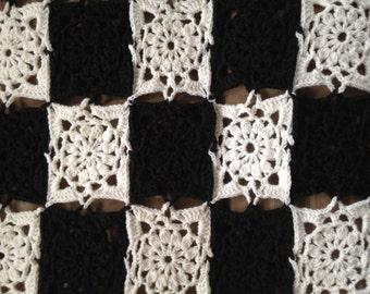 King size crocheted Blanket / Bedspread