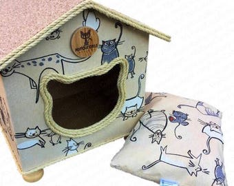 CatCottage, Cat House, Cat Bed, Pet Furniture, CatCave