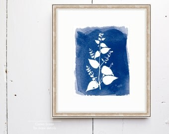 Bells Watercolor Print - SMc. Originals, watercolor painting, rustic, modern, original artwork, floral series, floral, organic, navy