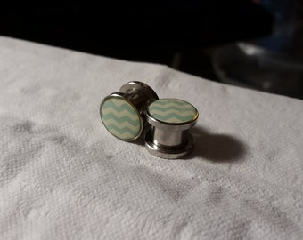 Blue Chevron 00g Plugs