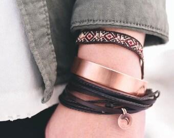 Custom cuff, hand stamped cuff, bangle bracelet, personalized cuff, brave