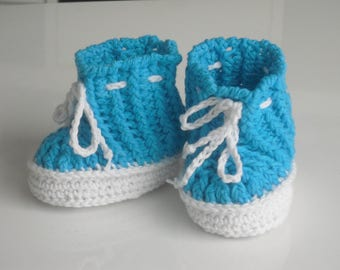 Baby shoes - baby shoes - SL 7.5 - slippers - booties - Babybooties - first shoes - birth - christenings - handmade