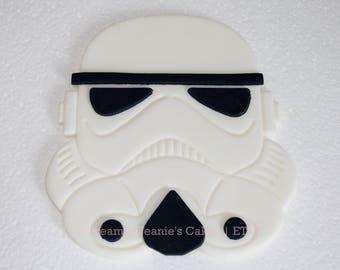 "Storm Trooper, Star Wars Cake Topper, Fondant, 5"" Cake Topper"