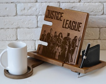 Justice League Art Holder Justice League birthday gift dc comics superhero print poster wall art wall decor dawn of justice gift for man