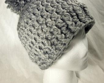 Crochet Hat, Crochet Winter Hat, Crochet Beanie, Crochet Chunky Hat, Crochet Hat with Pom, Winter Hat, chunky beanie, pompom hat