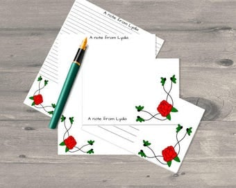 Rose vine letter writing set, letter writing paper set, letter writing stationary, letter writing paper, stationary set, stationery set