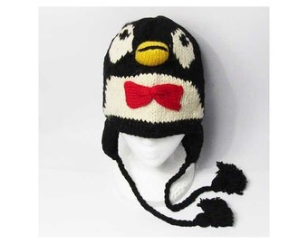 Nepalese Hand Knit Penguin 100% Wool Hat