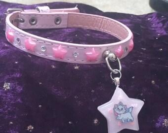 "11.5-13"" Pink Kitty Collar"