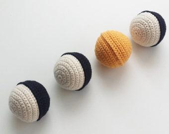 crochet ball, crochet balls set, baby ball, baby toy, ball, montessori toy, toddler ball, decoration,nursery decor, crochet toy,