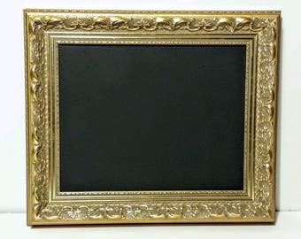 40x28 Baroque Style Gold Framed Chalkboard Sign, Menu Board, Elegant Wedding Sign, Restaurant Signs, Large Framed Chalk Board, Custom Sizes