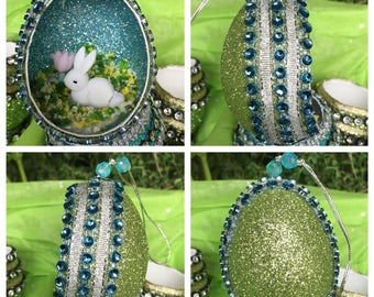 Bunny Easter Egg Ornament