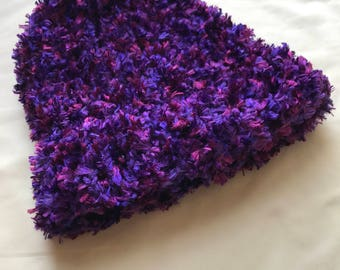 SALE** Purple and Pink fuzzy hat