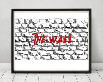 Pink Floyd poster The wall poster Pink Floyd wall art The wall wall art Pink Floyd gift Pink Floyd home decor Pink Floyd Printable poster