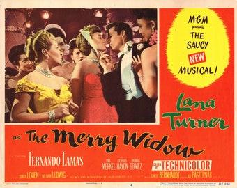 The Merry Widow - 1952 US lobby card No # 2 - Lana Turner