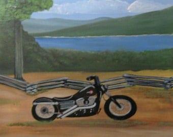 Harley Davidson Motorcycle Painting Custom Painting
