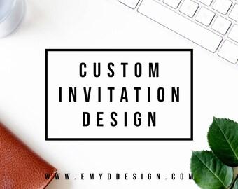 Custom Invitation Design || Party Invite, Custom Invite, Save The Date, Bachelorette Party Invite || EMYDDESIGN