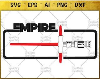 Light saber clipart SVG star wars svg lightsaber clipart SVG print decal cut files Cricut Silhouette Instant Download vector SVG png eps dxf