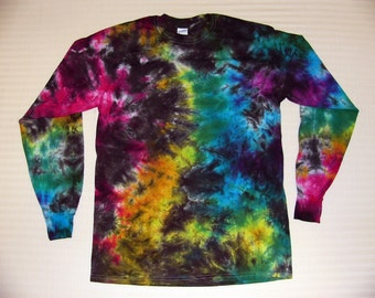 Tie Dye Long Sleeve Crinkle T Shirt