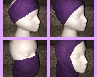 Versatile Headband/Hat/Face Shield all in one! Purple