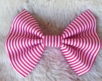 Candy Cane Collar Bow