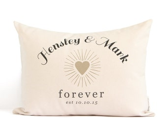 Personalized Wedding Gift, Newly Married, 2nd Anniversary Gift, Cotton Anniversary, Gift for couple, Bedroom Pillows, Gift for couple