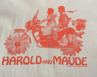 1971 HAROLD AND MAUDE Official Paramount Pictures Licensed Vintage Shirt