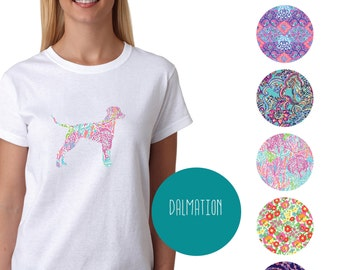 Dalmation Tshirt - Lilly Pulitzer Inspired - Paisley