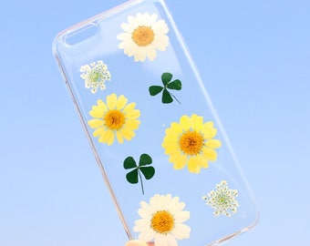 Original Design Real Dry Flower TPU Case Cover For Iphone