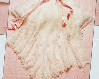 PDF Pretty Filigree Baby Lacy Christening Shawl Knitting Pattern Blanket Heirloom Victoriana Square Large
