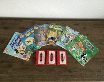 Vintage Walt Disney See Hear Read Books With Cassettes; Read-Along Books; Vintage Children's Books; Walt Disney Book; Disney Storybook