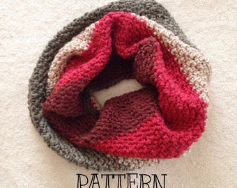 Crochet cowl pattern, caron cake cowl, pattern tutorial, cowl pattern, crochet cowl, striped cowl pattern