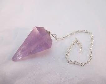 Amethyst Crystal Pendulum - 6 Sided, Divination, Scrying, Dowsing, Healing, Aura, Chakra, Psychic Tool, Intuition, Meditation - Crystal Cave