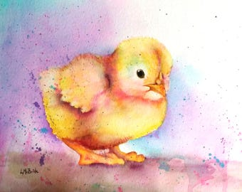 Baby Chick 5x7 Blank Greeting Card with Envelope
