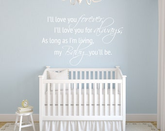 Love Forever - Vinyl Wall Decal Quote