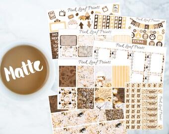 Matte | Coffee Break | Weekly Planner Sticker Kit