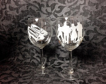 Wizard of Oz wine glasses