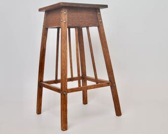 Arts & Crafts  wooden plant stand, plant table, 1920s