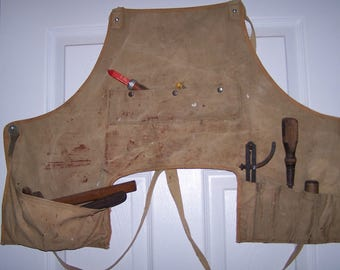 Canvas Mechanic's Apron,Tool Pouch,Tool Roll