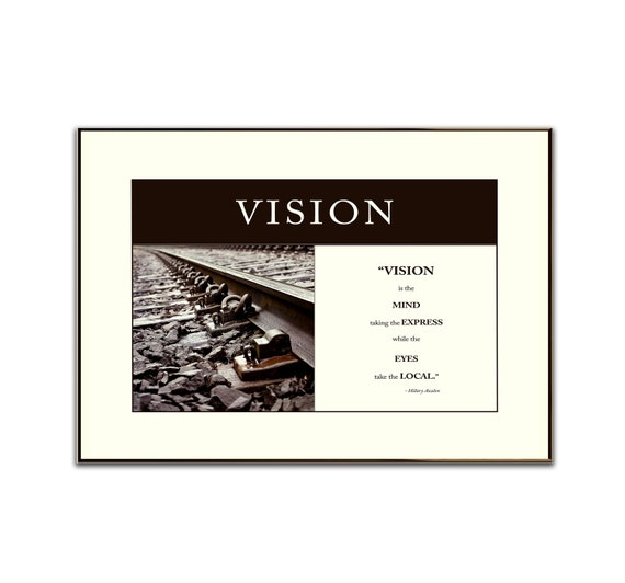 """Great Business Quotes Vision: Items Similar To Vision Quotes, 12""""x18"""" Business Company"""