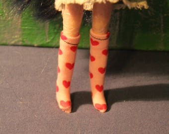 Heart knee socks for 1/6 Dolls and Actionfigures