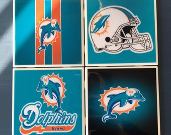 Miami Dolphins coaster set